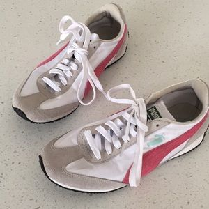 Puma white pink sneaker shoe runner 8.5